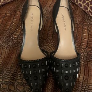 Antonio Melani black studded pump-Size 10